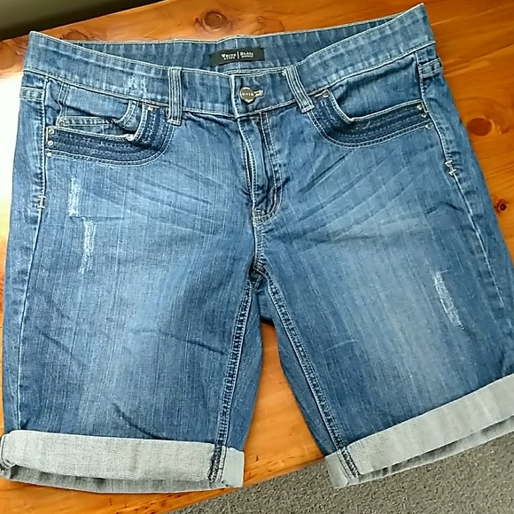 White House Black Market Jean Shorts Size 8